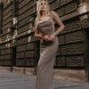 DEFI Beige Long Dress