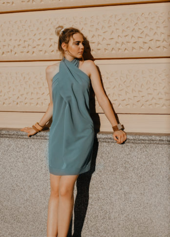 High Neck Baggy Dress