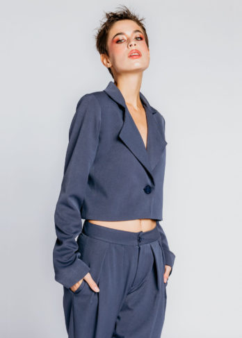Cropped Baggy Suit