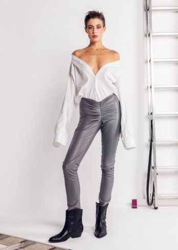 Wrinkled (faux) Leather Pants